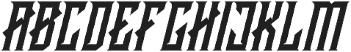 CRAWLER Italic otf (400) Font UPPERCASE
