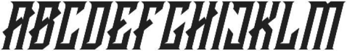 CRAWLER Italic otf (400) Font LOWERCASE