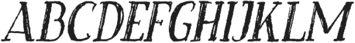 Craftsman Italic otf (400) Font UPPERCASE