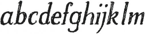 Craftsman Italic otf (400) Font LOWERCASE