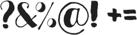 Crafty otf (400) Font OTHER CHARS