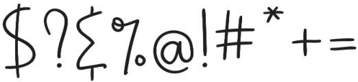 CranberryJam Script otf (400) Font OTHER CHARS
