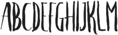Crash One ttf (400) Font UPPERCASE