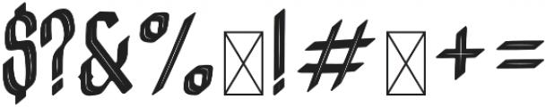 Crashburn Inline Regular otf (400) Font OTHER CHARS