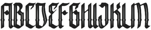 Crashburn Inline Regular otf (400) Font UPPERCASE