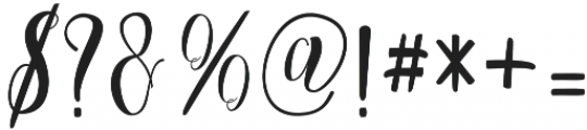 Cratti otf (400) Font OTHER CHARS