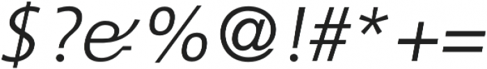 CraveSans Light Italic otf (300) Font OTHER CHARS