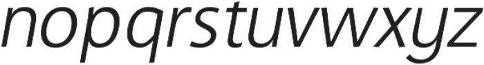 CraveSans Light Italic otf (300) Font LOWERCASE