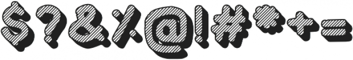 Crayonello 3d Striped otf (400) Font OTHER CHARS