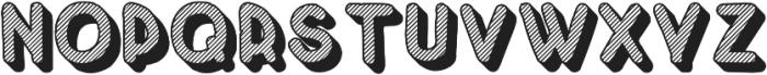 Crayonello 3d Striped otf (400) Font UPPERCASE