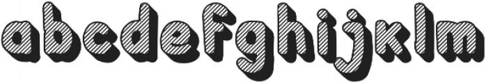 Crayonello 3d Striped otf (400) Font LOWERCASE
