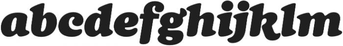 Cream Black Italic otf (900) Font LOWERCASE