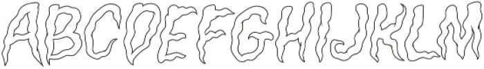 Creepers Outline otf (400) Font UPPERCASE