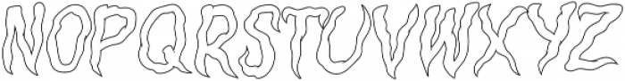 Creepers Outline otf (400) Font LOWERCASE