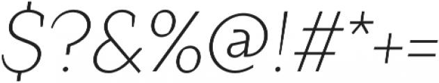 Crimsons Light Italic otf (300) Font OTHER CHARS