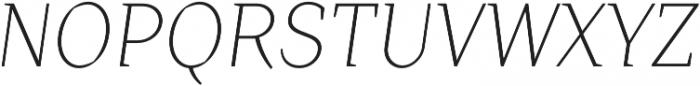 Crimsons Light Italic otf (300) Font UPPERCASE
