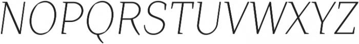 Crimsons Light Italic ttf (300) Font UPPERCASE