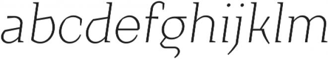 Crimsons Light Italic ttf (300) Font LOWERCASE