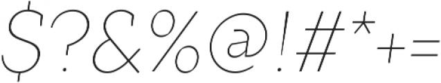 Crimsons Thin Italic ttf (100) Font OTHER CHARS
