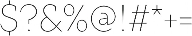 Crimsons Thin otf (100) Font OTHER CHARS