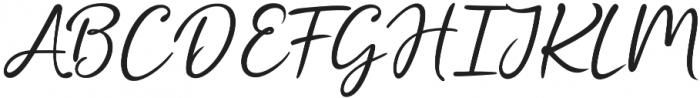 Cristalistic Script Regular otf (400) Font UPPERCASE