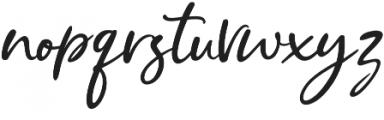 Cristalistic Script Regular otf (400) Font LOWERCASE