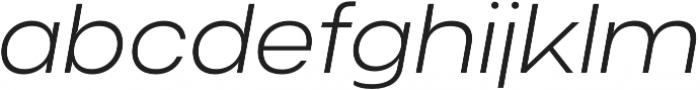 Criteria CF Extra Light Oblique otf (200) Font LOWERCASE