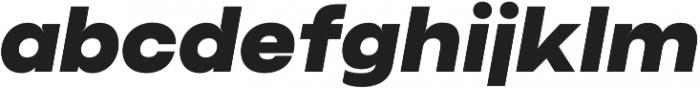 Criteria CF Super Oblique otf (400) Font LOWERCASE