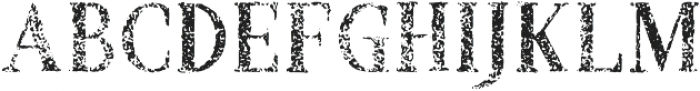 Croak Extra Withered otf (400) Font LOWERCASE