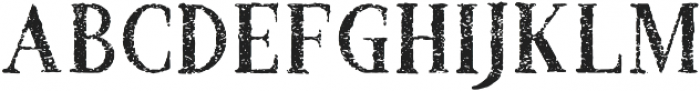 Croak Withered otf (400) Font UPPERCASE