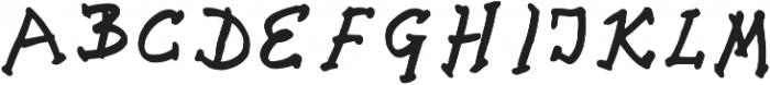 Croatica_bold Regular otf (700) Font UPPERCASE