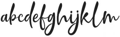 Crolinesy Daggaes Script otf (400) Font LOWERCASE