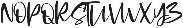 Cromana Script Regular otf (400) Font UPPERCASE