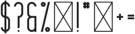 CrossRoad LongRough otf (400) Font OTHER CHARS