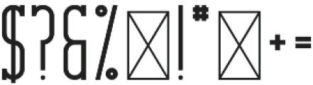 CrossRoad SlabLong otf (400) Font OTHER CHARS