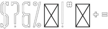 CrossRoad SlabLongOutline otf (400) Font OTHER CHARS