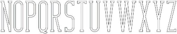 CrossRoad SlabLongOutline otf (400) Font LOWERCASE