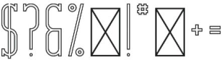 CrossRoad SlabLongOutlineTwo otf (400) Font OTHER CHARS