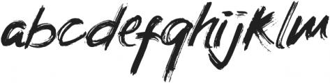 Crossover Regular otf (400) Font LOWERCASE