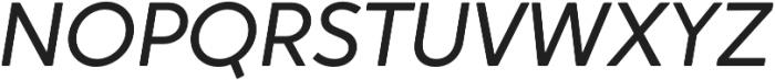 Crossten Book Italic otf (400) Font UPPERCASE