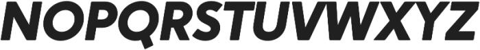Crossten ExtraBold Italic otf (700) Font UPPERCASE