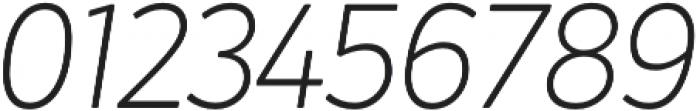 Crossten ExtraLight Italic otf (200) Font OTHER CHARS