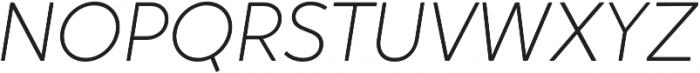 Crossten ExtraLight Italic otf (200) Font UPPERCASE