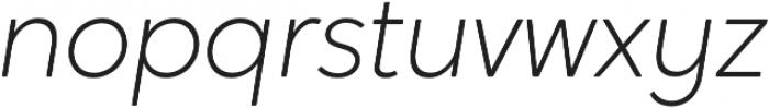 Crossten ExtraLight Italic otf (200) Font LOWERCASE