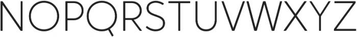 Crossten ExtraLight otf (200) Font UPPERCASE