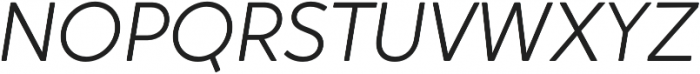 Crossten Light Italic otf (300) Font UPPERCASE