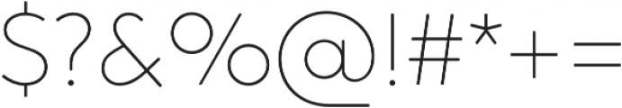 Crossten Thin otf (100) Font OTHER CHARS