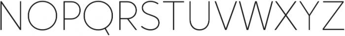 Crossten Thin otf (100) Font UPPERCASE