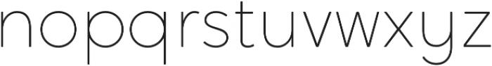 Crossten Thin otf (100) Font LOWERCASE