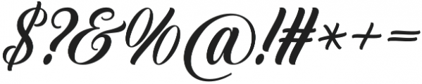 Crowlen Script otf (400) Font OTHER CHARS